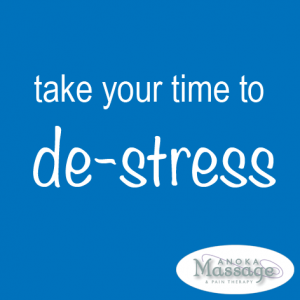 Take time to de-stress